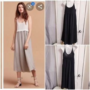 Aritzia Wilfred Bisous Silk Maxi Dress